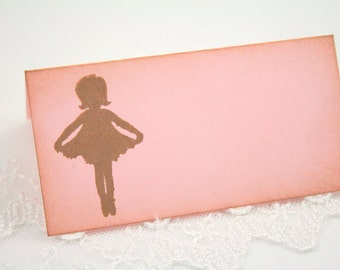 Ballerina Place cards / Placecards Food Buffet Candy Bar Signs Baby Shower Party