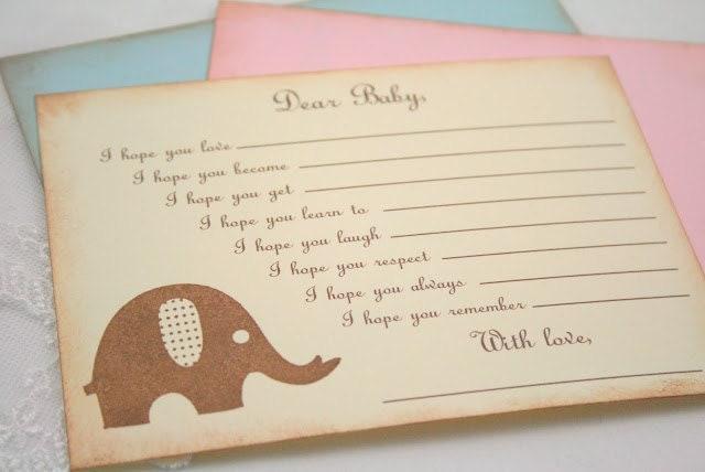 baby shower wishes for baby game activity by seasonaldelightsbaby