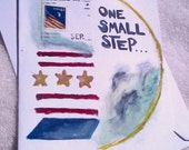 GREETING CARDS - Handmade Patriotic - Small Steps are Beautiful Set of 2