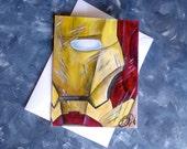Handmade Greeting Cards - Avengers Inspired Art - IRON MAN