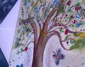 HANDMADE GREETING CARDS - Trees of Spring & Summer - Hand Painted