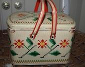 Vintage Biscuit Tin Picnic Basket