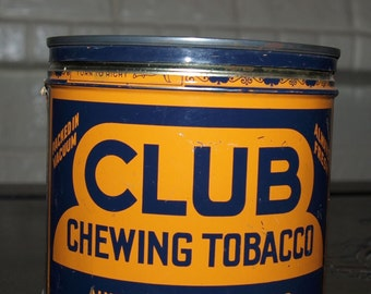 Vintage Club Chewing Tobacco Tin