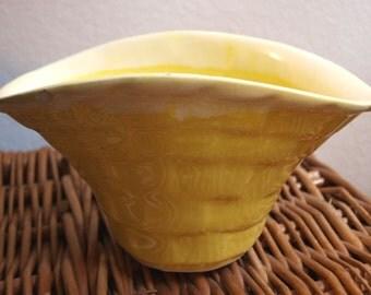 Vintage Basket Shaped Vase