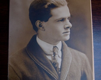 Vintage 1920s Photograph Young Man