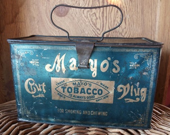 Antique Mayo Lunch Pail Tobacco Tin