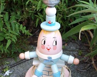 Vintage Irmi Humpty Dumpty Nursery Lamp