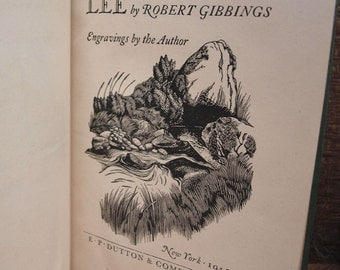 Vintage 1st Edition Lovely Is The Lee by Robert Gibbings 1945