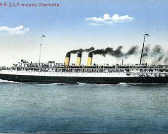 Antique Real Photo Postcard SS Princess Charlotte