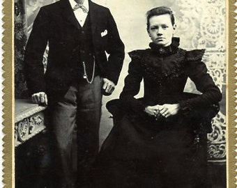 Antique Victorian Couple Photo