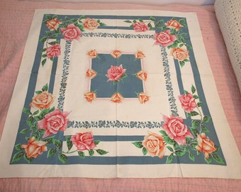 Vintage Printed Tea Tablecloth