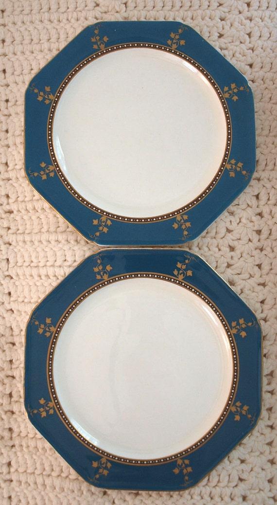 Antique Pair Porcelain Dinner Plates