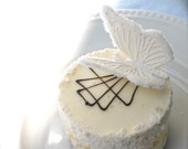 Edible Sugar Butterflies  GLISTENING WHITE
