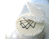 Edible White Sugar Butterflies 10