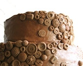 Chocolate Candy Vintage Buttons 100