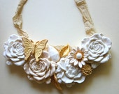 Candy Necklace Vintage Inspired Featured in Vermont Vows
