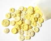 """Edible Buttons / Candy / """"Lemon Pie"""" Handmade Vintage Inspired Button Candy -for Embellishing or Stand Alone """"50"""""""