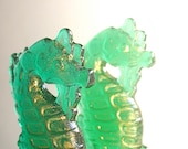 """Hard Candy Lollipops """"Enchantment Under The Sea"""" Blue Hawaii Flavor -1 Vintage Inspired Seahorse"""
