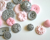 Edible Candy Buttons 250 mix of Silver and 1 other Custom Color of your choice, in 3 ombre shades