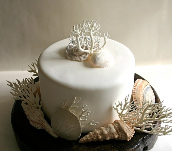 Coral Edible Cake topper
