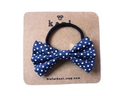 amanda deluxe bow hair tie // ponytail holder elastic