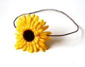 hair crown - sunflower yellow // woodland collection