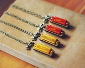 harmonica necklace (gold)