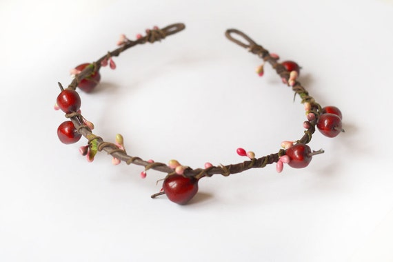 hair wreath // apples in my hair // woodland collection