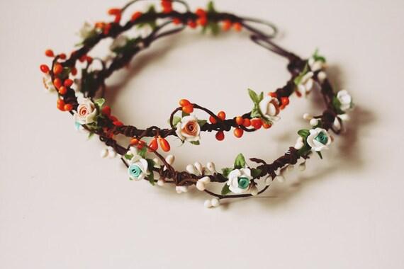 geraldine geraldson wreath - orange // woodland collection