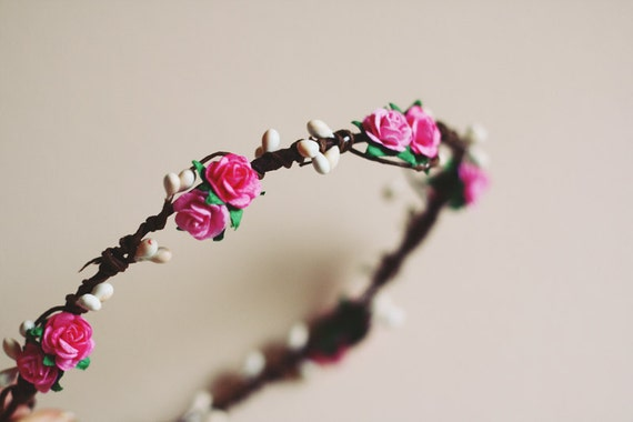 rustic love hair wreath // lili // woodland collection