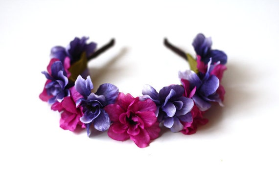 purple floral headband // woodland collection