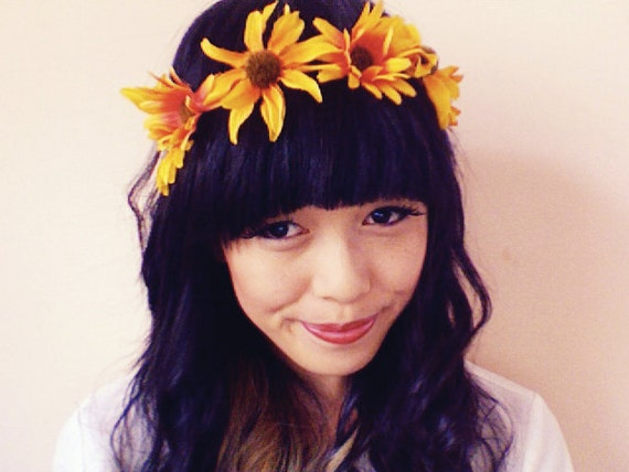 yellow sunflower headband // woodland collection // kristen