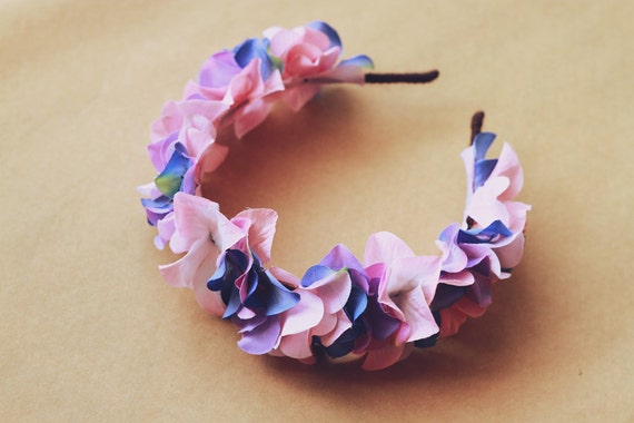 Reserved for cara - purple pastel floral headband
