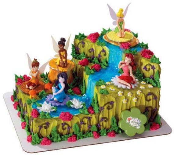 Disney Fairies Cake Kit Toppers Decorations Tinker Bell