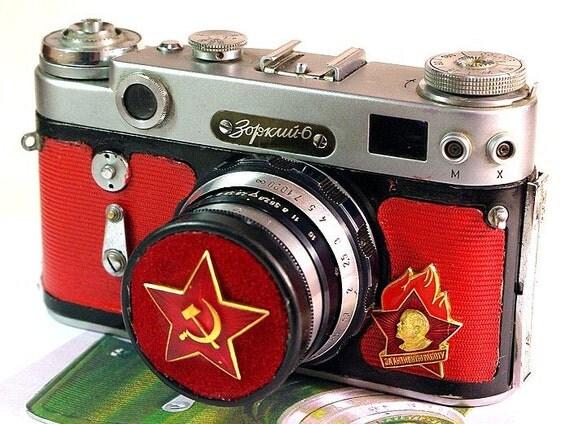 1965 Antiqe ZORKI-6 camera rare USSR Russian Leica in Case -from RussianVintage