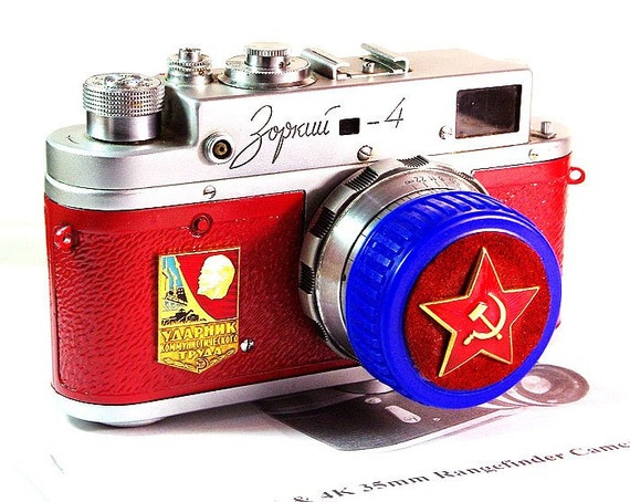 1961 Antique ZORKI-4 camera anniversary of the USSR-from RussianVintage