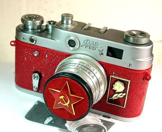 1961 Antique Red Star FED-3 camera rare Russian LEICA  -from RussianVintage