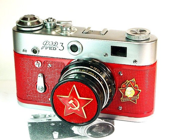 1967 Antique Red Star FED-3 camera rare Russian LEICA  -from RussianVintage