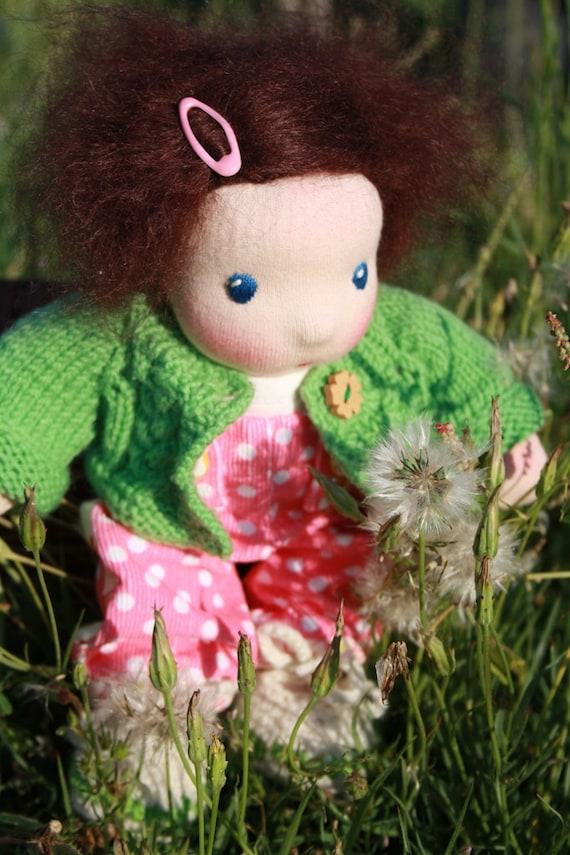 """Darling Heidy, 8"""" all natural Waldorf doll"""