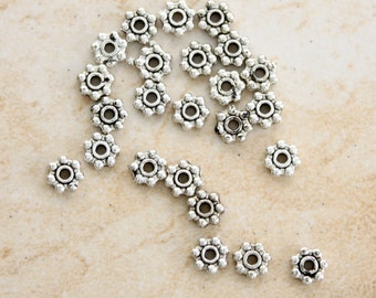 5mm Pewter Daisy Spacers