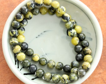 Yellow Turquoise Round 8mm Beads