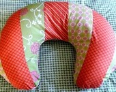 Orange, Green and Pink Boppy Slipcover, boppy cover, boppy pillow