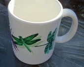 Dragonflies Mug Jeweltone Colors