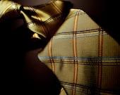 Forest Green Plaid Silk Tie
