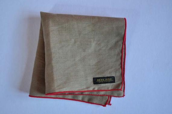 Tan Linen Pocket Square