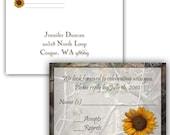 Camo & Sunflower RSVP Postcard 25 count