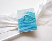 ACEO Print Artist Trading Card The Great Wave Watercolor painting Israel