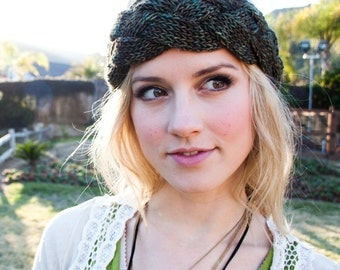 KNITTING PATTERN Endless Braid Winter Ear Warmer and Summer Headband