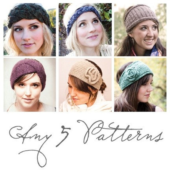 ANY FIVE PATTERNS your choice of any five pattern PDFs