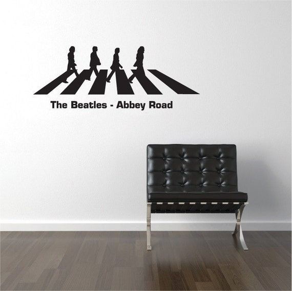 Swim or sink print poster wall art digital by auraswallsvinyls for Abbey road wall mural